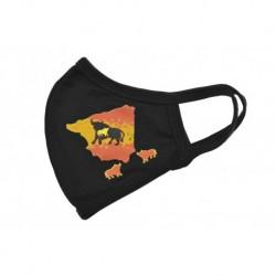 Textilné rúško - Španielsky býk - 1 ks