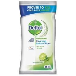 Antibakteriálne obrúsky na povrchy - limetka a mäta - 36 ks - Dettol