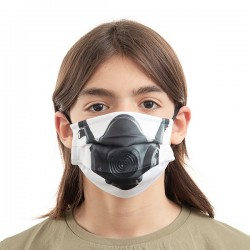 Hygienické rúška na viac použití - plynová maska - 3 ks - veľkosť M - Luanvi
