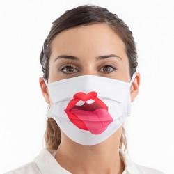 Hygienické rúška na viac použití - jazyk - 3 ks - veľkosť M - Luanvi