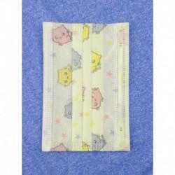 Jednorazové detské hygienické rúško - zelené s obrázkami - 10 ks