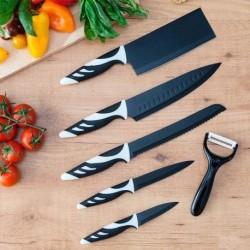 Súprava nožov Top Chef - 6 ks - čierne - Cecotec