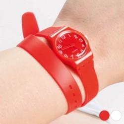 Unisex hodinky s extra dlhým remienkom 143969 - biele