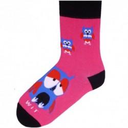 Dámské ponožky - sovičky magenta - WiTSocks