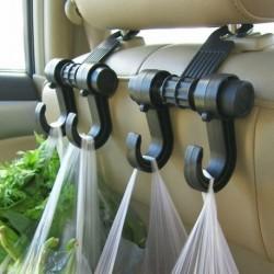 Multifunkčný závesný držiak s dvojitým háčikom do automobilu - 1 ks