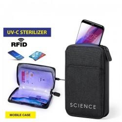 Puzdro na telefón a na karty s UV sterilizátorom 146674 - čierne
