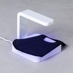 Dezinfekčná dobíjacia UV lampa 146671 - s integrovanou bezdrôtovou nabíjačkou - biela