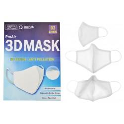 Antibakteriálne rúško na viac použití Pro Air - s 3D dizajnom - biele