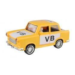Retro autíčko Trabant 601 - s logom verejnej bezpečnosti - na zotrvačník - 18 cm