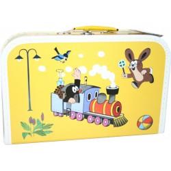 Kufrík na výtvarnú výchovu - Krtko a mašinka - veľký - Kazeto