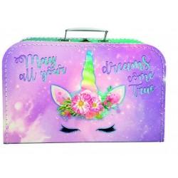 Kufrík na výtvarnú výchovu - jednorožec - veľký - Kazeto