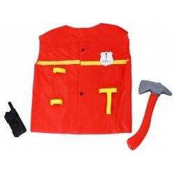 Detský hasičský kostým - s vysielačkou a sekerou - Rappa