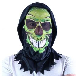 Maska s motívom lebky - textilná - Rappa