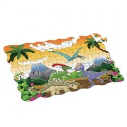 Puzzle dinosaury - 208 ks - 90 x 64 cm - Rappa