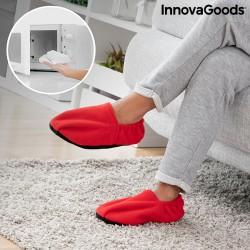Papuče ohrievateľné v mikrovlnnej rúre - červené - InnovaGoods