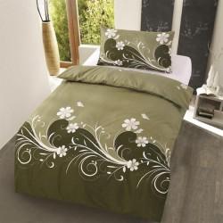 Microtop obliečky - kvetinové vlny - rákosová zeleň - 140 x 200 cm