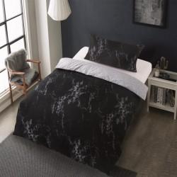 Microtop obliečky - mramor - čierne - 140 x 200 cm