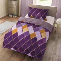 Microtop obliečky - káro - fialové - 140 x 200 cm