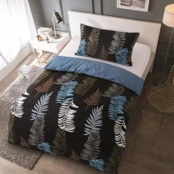 Microtop obliečky - papradie - modré - 140 x 200 cm