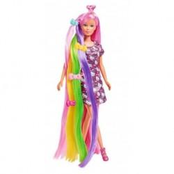 Bábika Steffi s dúhovými vlasmi - so šatmi od Hello Kitty - Simba