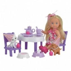 Bábika Evička na čajovom večierku so zvieratkami - Simba