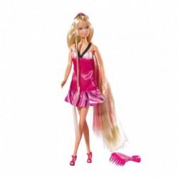 Bábika Steffi s krásnymi dlhými vlasmi a kefou - Simba