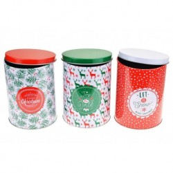 Plechovky na vianočné pečivo - 3 ks