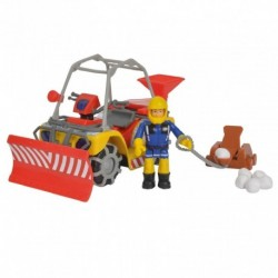 Zimná požiarnická štvorkolka Mercury - s figúrkou - Požiarnik Sam - Simba