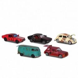 Darčeková súprava vintage autíčok - hrdzavé - 5 ks - Simba