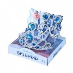 Princeznovská korunka s náušnicami - modrá - Rappa