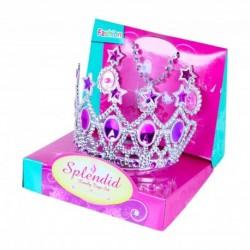 Princeznovská korunka s náušnicami - ružová - Rappa