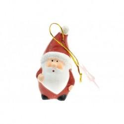 Figúrka na stromček z pálenej hliny - Santa - 8 cm