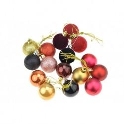 Súprava vianočných guliek - zlaté a fialové - 40 mm - 16 ks  guľky