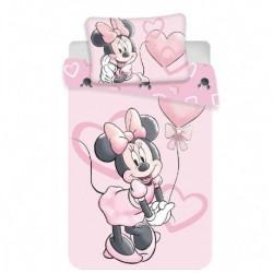 Bavlnené obliečky do postieľky - Minnie Pink Heart Baby - 100 x 135 - Jerry Fabrics