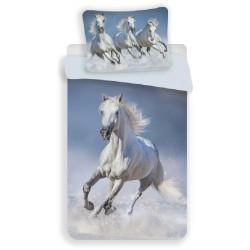 Bavlnené obliečky - Horses White - 140 x 200 - Jerry Fabrics