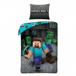 Bavlnené obliečky - Minecraft Steve - 140 x 200 - Halantex