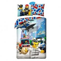 Bavlnené obliečky - Lego polícia - 140 x 200 - Halantex