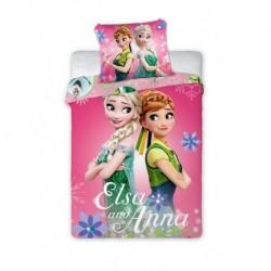 Bavlnené obliečky do postieľky - Ľadové kráľovstvo Pink - 100 x 135 - Faro