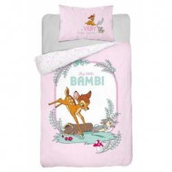 Bavlnené obliečky do postieľky - Little Bambi Pink - 100 x 135 - Detexpol