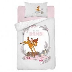 Bavlnené obliečky do postieľky - Little Bambi Grey - 100 x 135 - Detexpol
