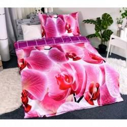 3D obliečky - Orchidea - 140 x 200 - polyester