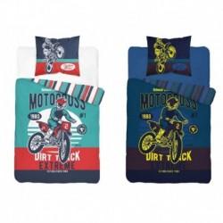 Svietiace bavlnené obliečky - Motokros - 140 x 200 - Detexpol