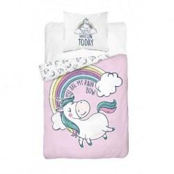 Bavlnené obliečky - Jednorožec Rainbow - 140 x 200 - Detexpol