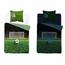 Svietiace bavlnené obliečky - Futbal - 140 x 200 - Detexpol