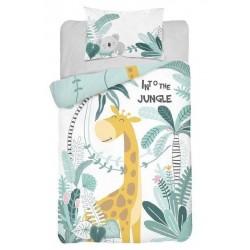 Bambusovo-bavlnené obliečky do postieľky - Žirafa Jungle - 100 x 135 - Detexpol