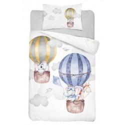 Bambusovo-bavlnené obliečky do postieľky - Balóny - 100 x 135 - Detexpol