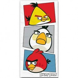 Osuška - Angry Birds - bílá - 140 x 70 cm - Halantex