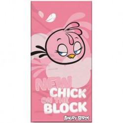 Osuška - Angry Birds - Stella - ružová - 140 x 70 cm - Halantex