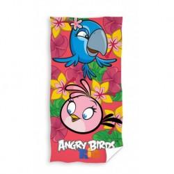 Osuška - Angry Birds - Rio - ružová - 140 x 70 cm - Carbotex