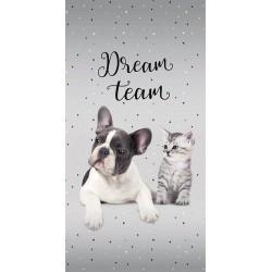 Osuška - Pes a mačka - Dream Team - 140 x 70 cm - Detexpol